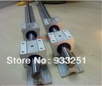 2pcs SBR25-700mm 25mm FULLY SUPPORTED LINEAR RAIL SHAFT & 4 SBR25UU Bearing Blocks