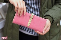 New 2014 European Style PU Leather Women Wallet Lady Purse Free Shipping