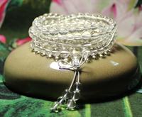 108 Mala Women Bracelet Meditation Stone White Crystal Clear Bracelet Healing