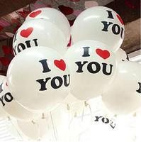 30pc 12 Inch 2.8g Romantic White Helium Balloon  Latex Balloons  I  Love You Balloon Party Wedding Birthday Decoration Balloon