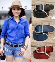 100% Genuine Leather Brand Name Belts for Women Vintage Woman Belt Fashion Female Jeans Strap Cintos Ceinture blue 2014 WBT0052