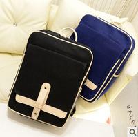 2014 Cross suction buckle casual retro shoulder bags PU College Wind Korean female British retro schoolbag backpack handbag