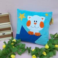 Plush toy pillow at home sofa cushion white collar square back cushion gift