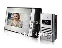 """7"""" TFT Color Display Wired Video Door Phone Doorbell Intercom Kit-SY802MB11"""