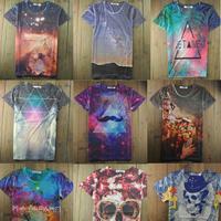 Custom own design sublimation 3D printing Tshirt, Wholesale price Fashion Cotton Tees, Short Sleeve Flower Design Shirt