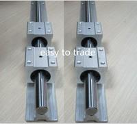 2 Set SBR20-2750mm 20mm FULLY SUPPORTED LINEAR Rail SHAFT ROD with 4 SBR20UU bearing blocks