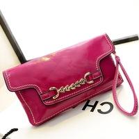 2014 PU leather handbags women new Korean wave packet retro clavicle clutch bag wholesale fashion casual shoulder diagonal