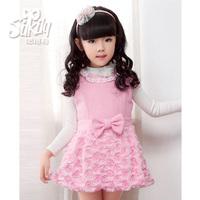 805 2013 gentlewomen child one-piece dress female child princess dress woolen tank dress
