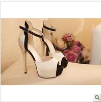 Ladies Fashion High Heel Platform Sandals Summer Shoes Fish Mouth Ankle Strap Women Pumps Size 35-42 ZG328-21NF