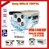 "2014 NEWS 1/3"" Sony Effio CCD 700TVL CCTV Surveillance Home Security IP66 Waterproof Outdoor Day Night 4led Array IR CCTV Camera"