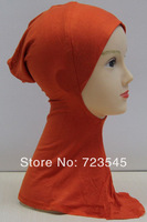 Wholesale   Red White Black Muslim headscarves lined cap to facilitate easy fashion mercerized cotton long-term supply