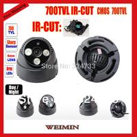 CMOS 700TVL  CCTV 50meters 3leds Array IR  day /night indoor with IR-CUT Security CCTV Dome camera