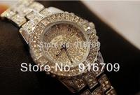 2014 New Luxury Women Full Rhinestone Watches Fashion Dress Watch Stone steel Watches Woman Female Gift