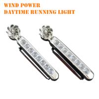 Free Shipping New 2PCS Universal 8 LED Wind Energy Car Light Super White Daytime Running Light Auto DRL Lamp #8203