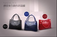 2014 new authentic crocodile handbag leather handbag shoulder bag women influx of European and American fashion ladies hand bag