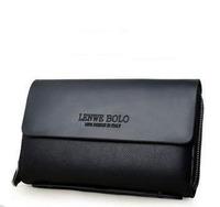 Hot sale!! LENWE BOLO New Fashion Genuine pu Leather Business Men Clutch Bag Wallet Men Handbag free shipping