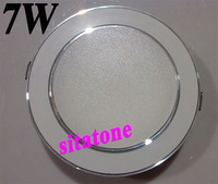 Free shipping wholesale  AC85-265V 7W LED downlight SMD5630/5730 led down light lamp hole size 90mm