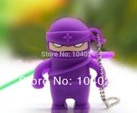 Free Ship Wholesale 10pcs lot  Cartoon ninja model USB Flash drive 2.0 U disk pen stick memory