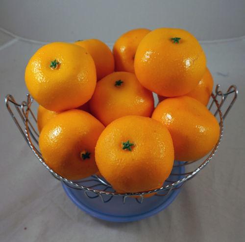 10 Artificial Faux Navel Oranges Fruit Vase Filler Home
