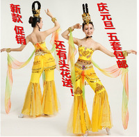 2014 Costume stage clothes dance clothes dance national clothes flying dance dunhuang dance  Free Shipping