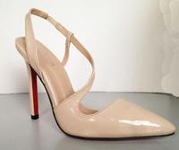 Elegant ladies 2014 lines endomorph brief strap pointed toe high-heeled shoes, summer sexy stiletto heel sandal