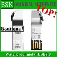 Free post ! SSK USB2.0 32GB 16GB 8GB  K5 metal waterproof USB2.0 (SFD199) 32 gb (silver)