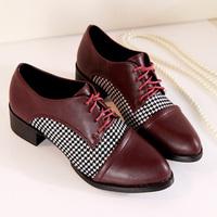 2014 fashion girls leather shoes , lace singles shoes hotsale