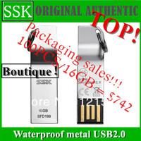 Free post ! Packaging sales USB SSK USB2.0 32GB 16GB 8GB  K5 metal waterproof USB2.0 (SFD199) 32 gb (silver)