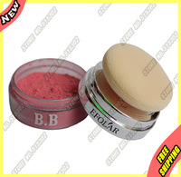 100% Original Beauty Women Natural Minerals Blusher Loose Face Powder Blush Colour Base + Sponge E343-2 Full Size Kit Sets 1Pcs