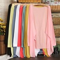 Fashion long-sleeved Shirt Sun Protection Clothing Women's Ultra Thin Cotton Air Conditioning Shirt Jacket Free Shipping