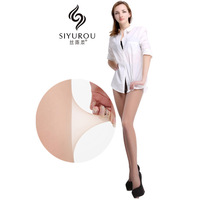 Invisible 4 ultra-thin seamless stockings 12d wire socks Core-spun Yarn plus crotch pantyhose