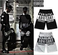 HEY GUYS Parental advisory cd shorts hiphop street hip hop sports casual male  mans men