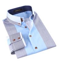 Mercerized cotton long-sleeve shirt male cotton 100% cadil stripe male long-sleeve slim casual shirt men's clothing shirt