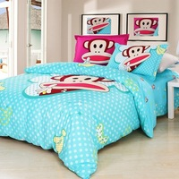 2014 new 100% cotton bedding set 4pcs cartoon 3d bedding sets comforter bedding set king size & queen size+free shipping