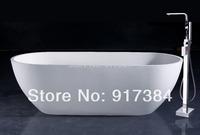 Construction & Real Estate Modern Floor Stand Bathtub Brass Chrome Free Standing Bath Shower Mixer Set M-031 Mixer Tap Faucet