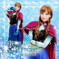 Frozen Anna handmade cosplay costumes(no Cloak),FREE SHIPPING