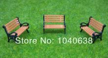 PCY87 Model Train HO TT 1:87 bench chair settee 10PCS(China (Mainland))