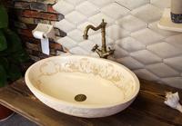 Luxury fashion meaka antique wash basin oval sanitary ware wash basin