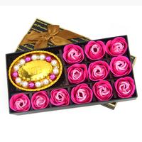 Soap flower rose gift box laopo gifts to send girlfriend birthday gift rectangular box 12 bracelet