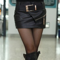 2014 Korean Version Of Casual Fashion Style Sexy Women's Boots Zipper Leather Pants Leather Shorts Culottes