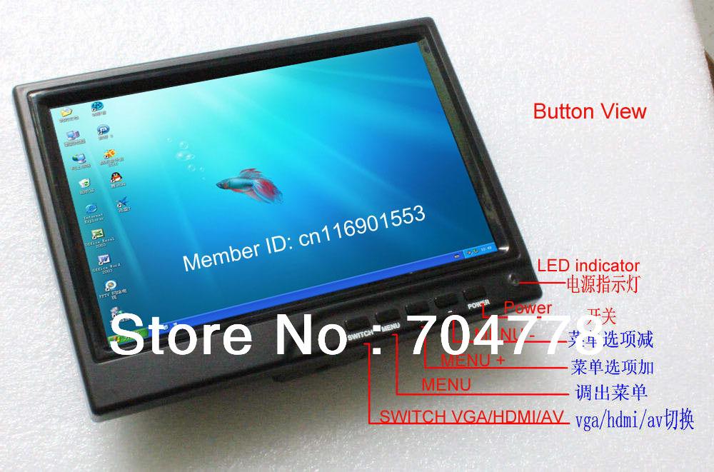 7 Inch Monitor HDMI 1280x800 IPS HD Screen VGA AV HDMI Car Monitor Connect SLR 7 Inch VGA Monitor(China (Mainland))
