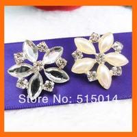 flower pearls and rhinestone button for wedding bouquet flower,rhinestone embellishment for wedding   200pcs/lot