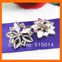 rhinestone buckle for wedding invitation card ,rhinestone embellishment for wedding   200pcs/lot