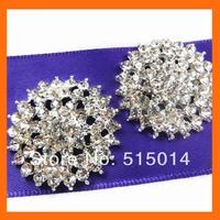 Round rhinestone buckle for wedding invitation card ,rhinestone embellishment for wedding   200pcs/lot