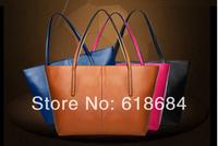 Free shipping 40pcs/lot 2014 New Edition Leather Handbag Shoulder Bag Diagonal Fashion Retro Bag Ladies Handbag