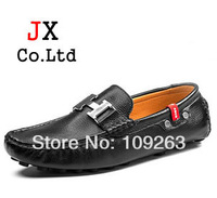 2014 Popular Genuine leather Men brand loafers British H head slip on Comfortable cowskin flats Driving Mocassin Shoes for Men
