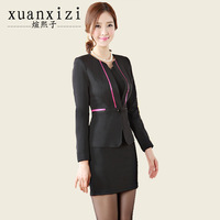2014 Autumn and Winter Women Work wear Career Skirt suits set long sleeve women's formal fashion working cloth