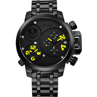 Weide movement waterproof quartz male watches secondmeter sports table
