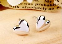 Genuine 100% 925 sterling silver fashion Korean style Love Heart Shaped stud earrings for lady women