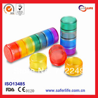 wholesale cute weekly waterproof easy open plastic pill box